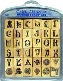 Celtic Rubber stamp alphabet