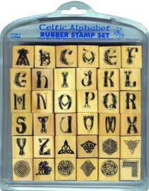 Celtic Rubber Stamp Alphabet Set