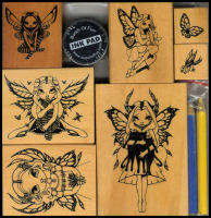 Jasmine Becket-Griffith Fairy Rubber Stamps