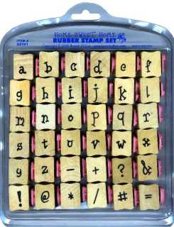 lower case alphabet rubber stamps