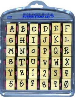upper case alphabet rubber stamps