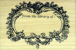 victorian rubber stamp bookplate