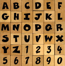 Cartoon Rubber stamp alphabet